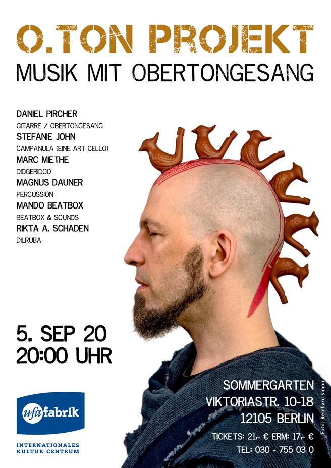 Musik mit Obertongesang ufaFabrik 2020